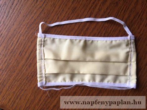 Textil szájmaszk (mosható, sárga)