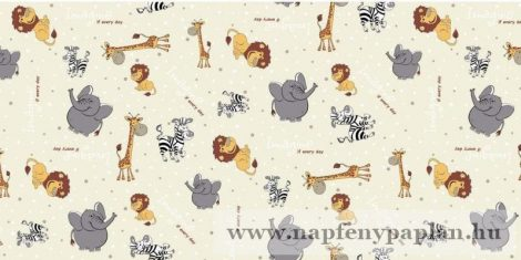 Krepp szürke elefántos gyermek ágyneműhuzat garnitúra (2 részes)