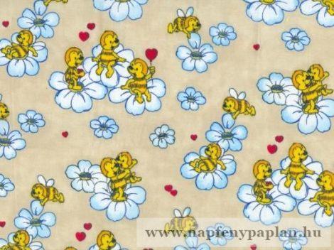 Anita bézs méhecske gyermek ágyneműhuzat garnitúra (2 részes, pamut-poliészter)