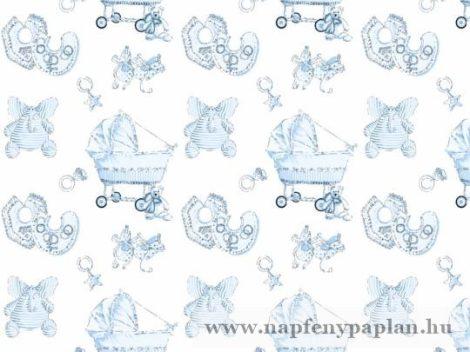 Geri kék gyermek ágyneműhuzat garnitúra (2 részes, zippes pamut)